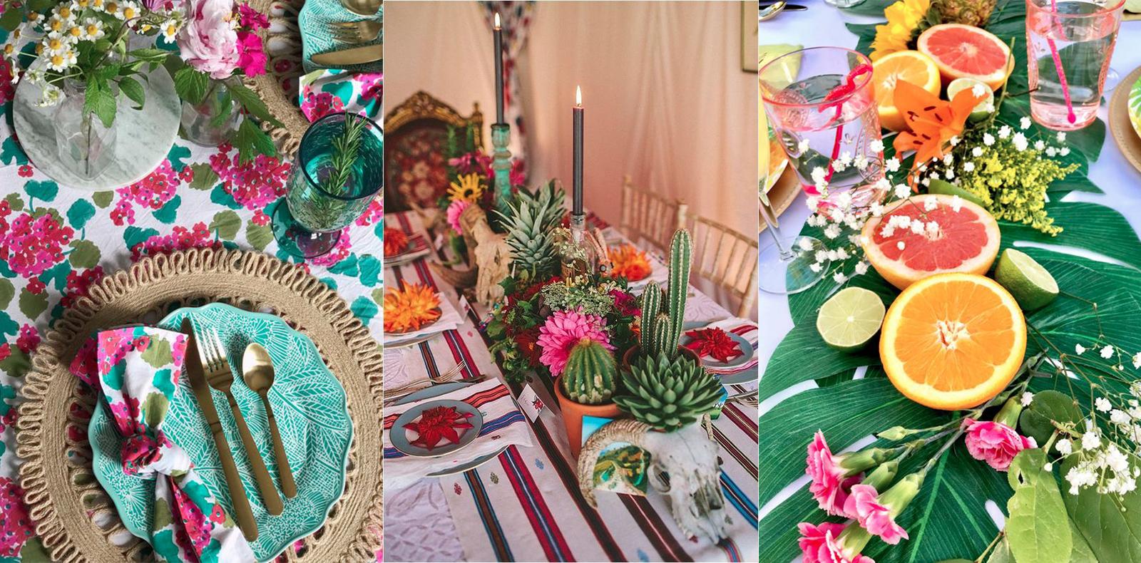 3 cách trang trí bàn tiệc mùa Hè