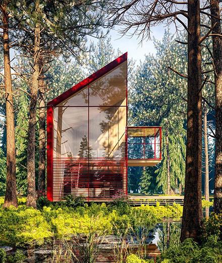 Những ngôi nhà thiết kế đương đại giữa lòng thiên nhiên hùng vĩ