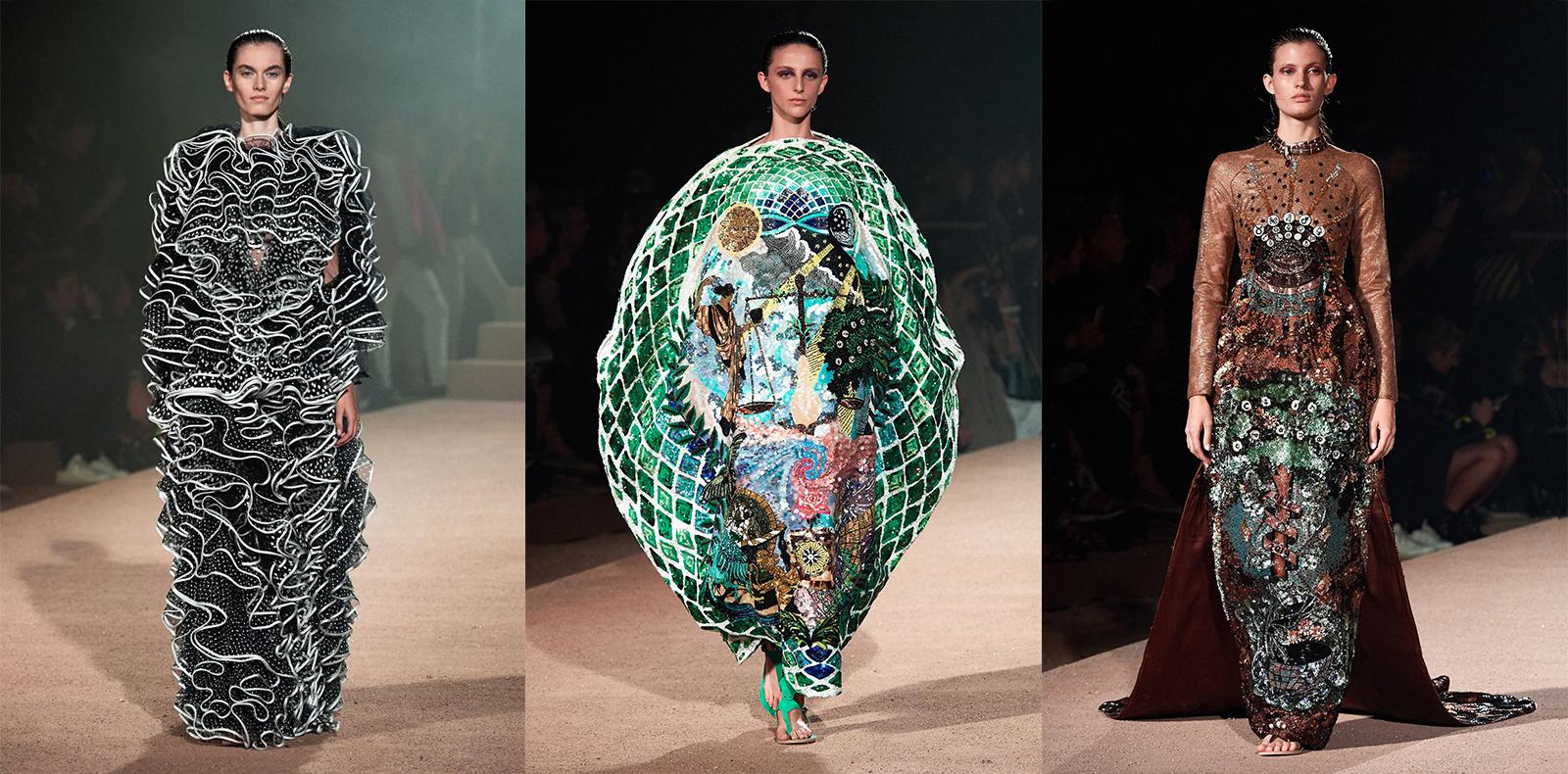 Mary Katrantzou R-T-W 2020: Đưa thời trang vào sử thi Hy Lạp